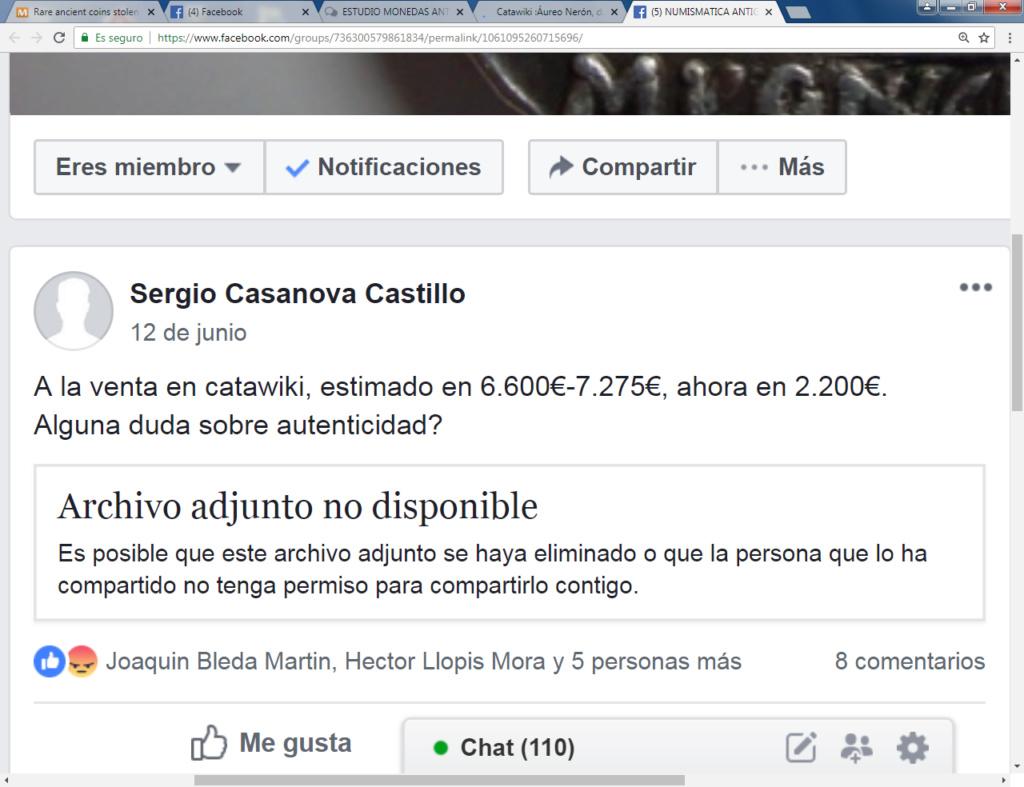 Catawiki :Áureo Nerón, dupondio Germánico, quinario Emerita, etc, etc Sergio10