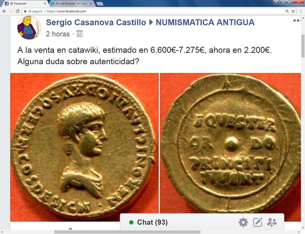 Catawiki :Áureo Nerón, dupondio Germánico, quinario Emerita, etc, etc Sin_ty31