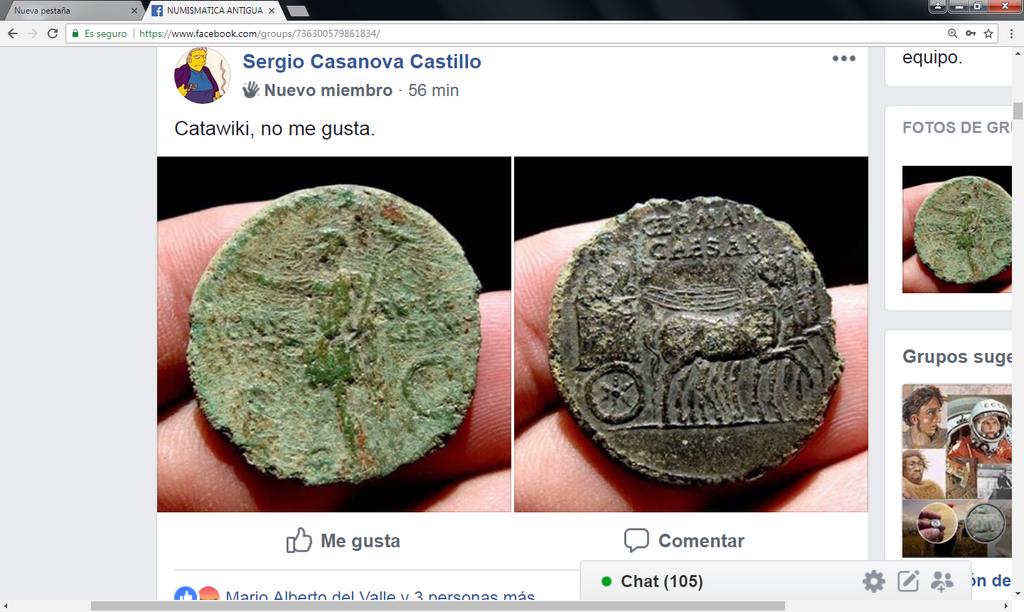 Catawiki :Áureo Nerón, dupondio Germánico, quinario Emerita, etc, etc Sin_ty32