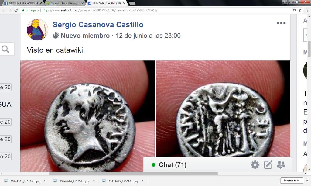 Catawiki :Áureo Nerón, dupondio Germánico, quinario Emerita, etc, etc Sin_ty36