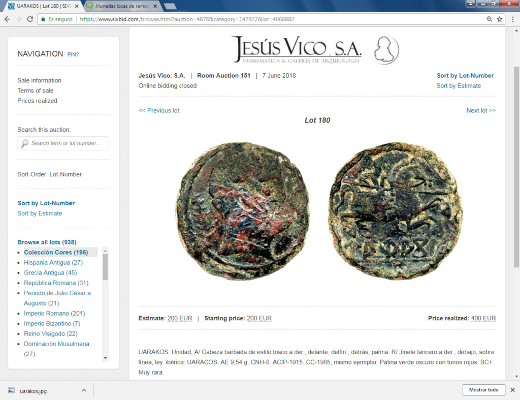 Monedas locas de remate Uarako10