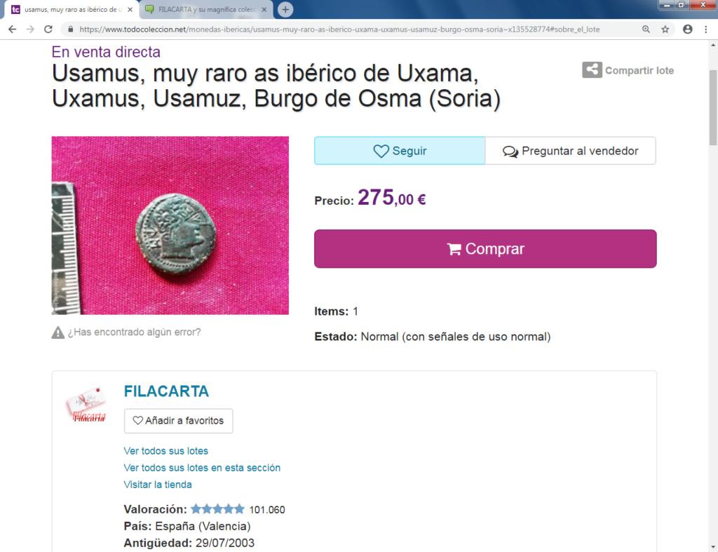 FILACARTA y su magnífica colección de denarios fundidos y bronces guarreados Usamus10