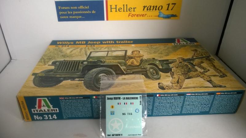 La Baleinière RBFM 2e DB , Jeep Italeri 1/35 et déco JAP Model  111