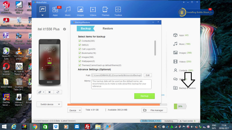 How to Backup and Restore  Your android files/data  in your Computer Screen13