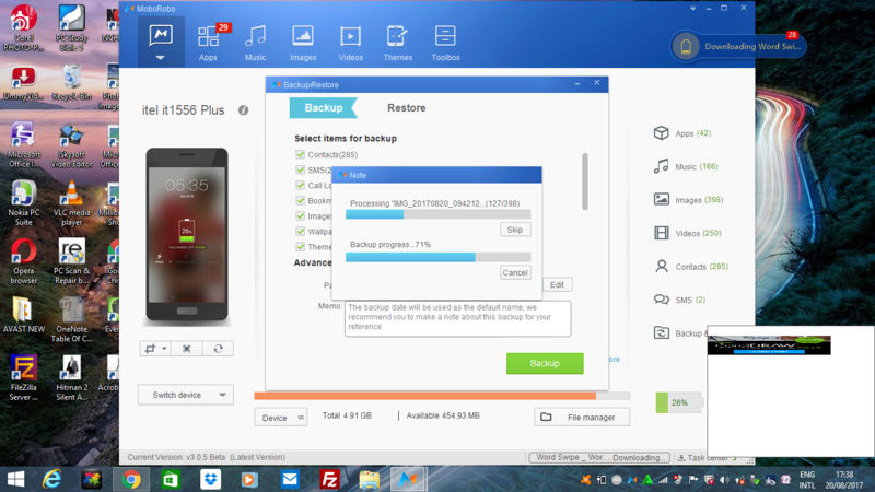 How to Backup and Restore  Your android files/data  in your Computer Screen14