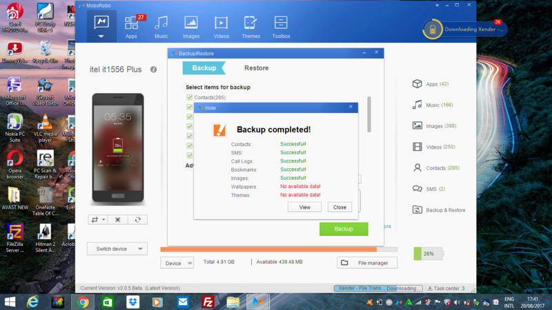 How to Backup and Restore  Your android files/data  in your Computer Screen15