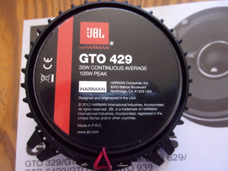JBL GTO sur GTR1000 100_3310