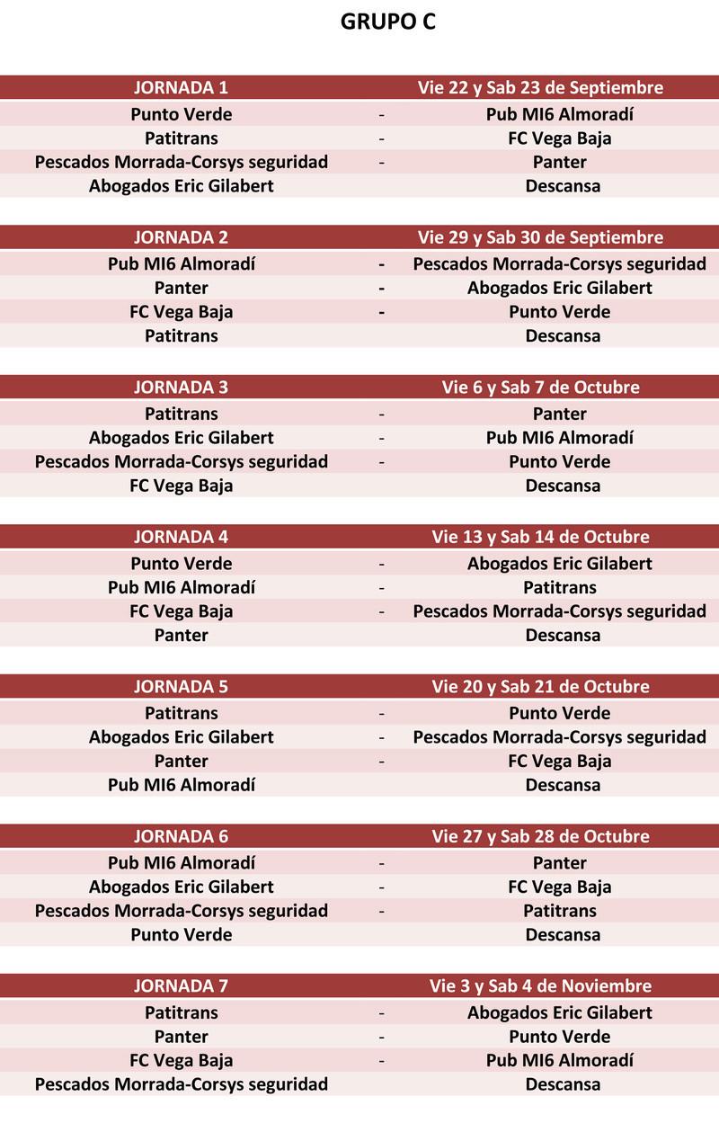 Fase previa XXXIX Edición liga local Callosa de Segura Calend12