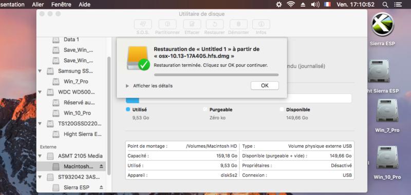 Chameleon MacOS High Sierra HD Captu116