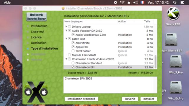 Chameleon MacOS High Sierra HD Captu117