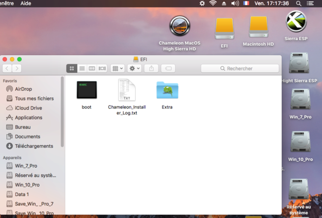 Chameleon MacOS High Sierra HD Captu118