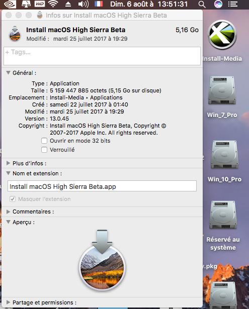 Create Install Media macOS High Sierra Captur45