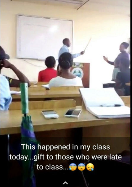 UNILAG Lecturer Flogs Student Who Came Late To His Class (Photo) Lectur10