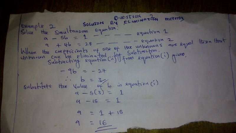 [MATHEMATICS]  SIMULTANEOUS EQUATION QUESTIONS AND  SOLUTION PART 1 Img_2010