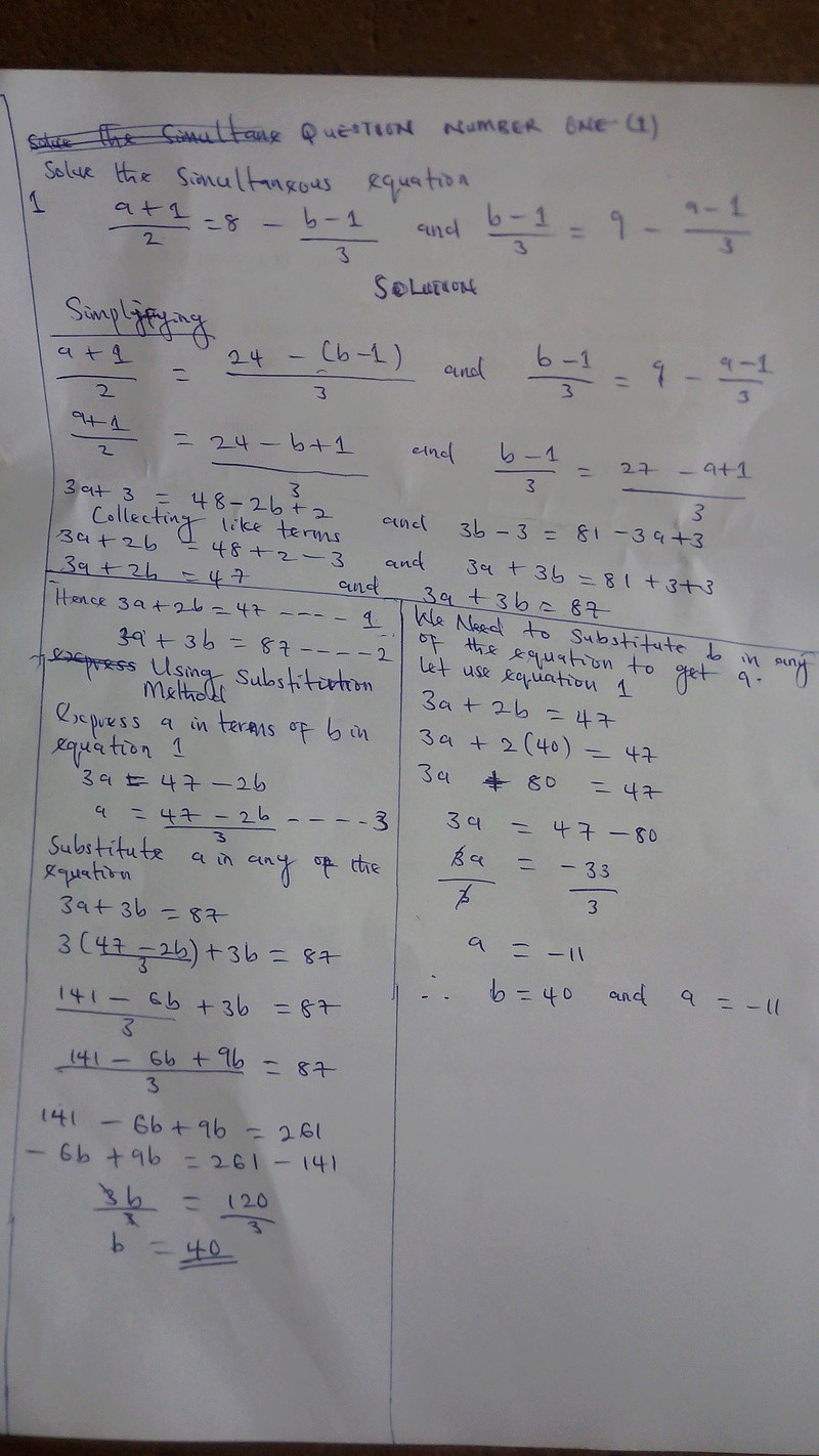 [MATHEMATICS]  SIMULTANEOUS EQUATION QUESTIONS AND  SOLUTION PART 2 Img_2013