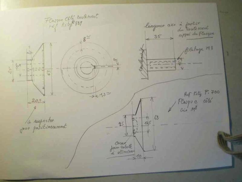 Améliorer le système des flasque concernant la scie kity 617 Scd61710