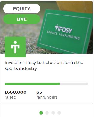 Tifosy crowdfunding deportivo. Captur90