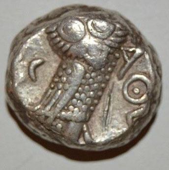 Avis sur drachme d'Athènes à la chouette Drachm11