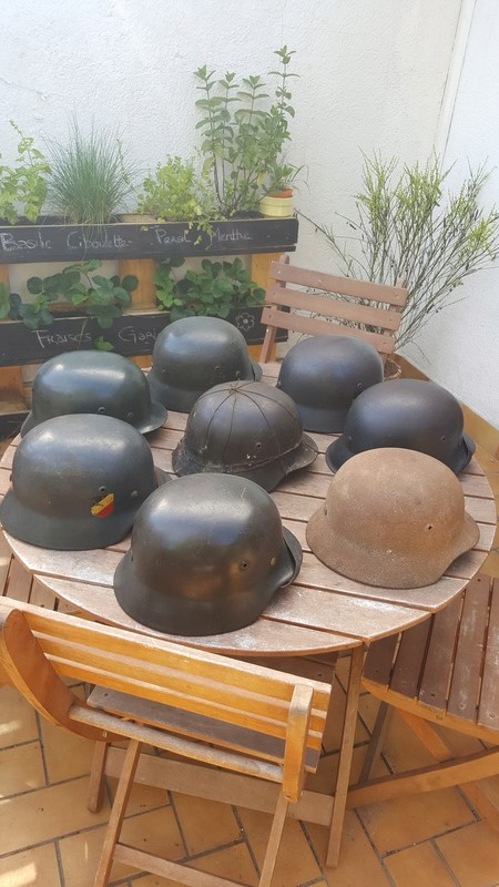 Collection casques allemand ww2 20170610
