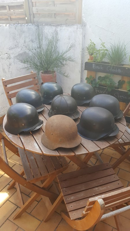 Collection casques allemand ww2 20170611