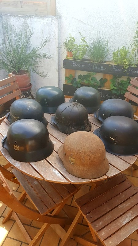 Collection casques allemand ww2 20170612