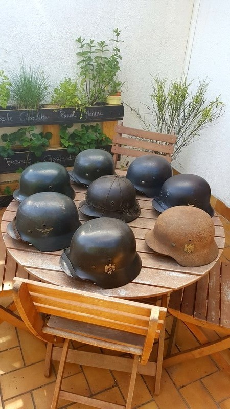 Collection casques allemand ww2 20170615