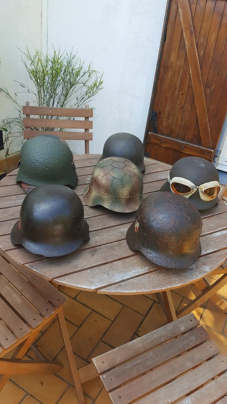 Collection casques allemand ww2 20170616