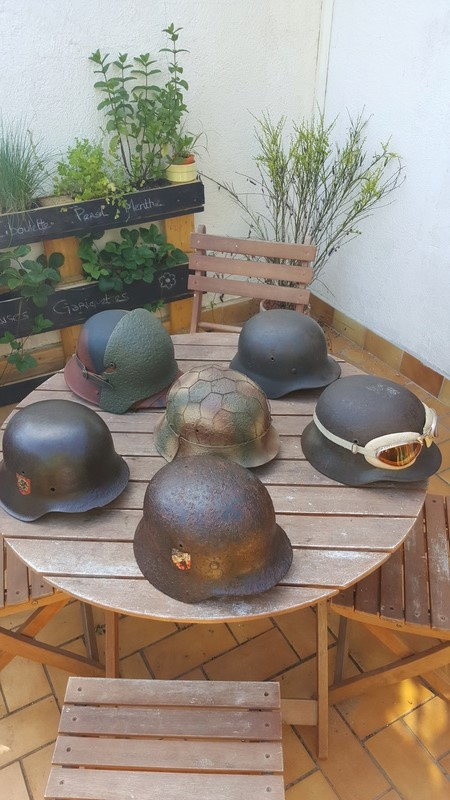 Collection casques allemand ww2 20170617