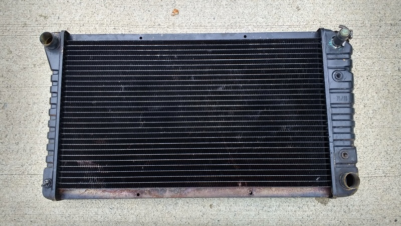 Radiator 4 row. Radiat11
