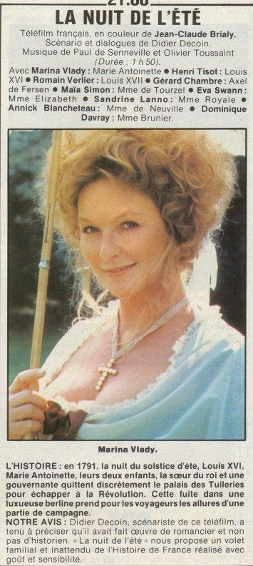 La Nuit de l'été (Marina Vlady) de Jean-Claude Brialy (1979) - Page 3 0610