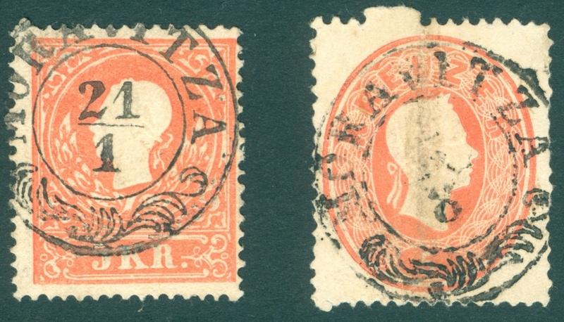 Freimarken-Ausgabe 1867 : Kopfbildnis Kaiser Franz Joseph I - Seite 18 Ungarn10