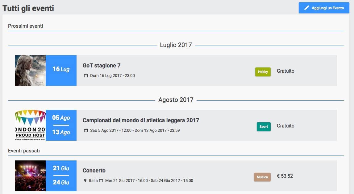 Nuova funzionalità su Forumattivo: gli Eventi! Scherm10