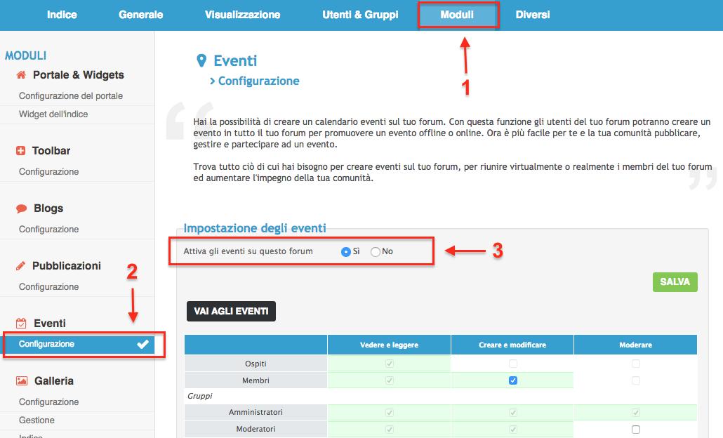 Nuova funzionalità su Forumattivo: gli Eventi! Scherm11