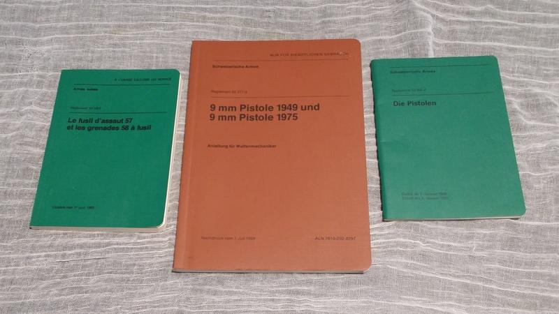 Règlements pour armes d'ordonnance de l'armée Suisse 20170910
