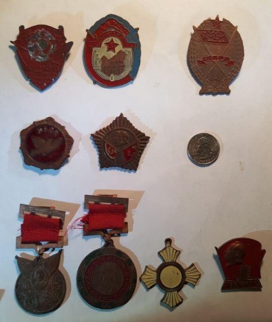 Communist Commemorative Pins - China - n Korea - Soviet Union 20170956