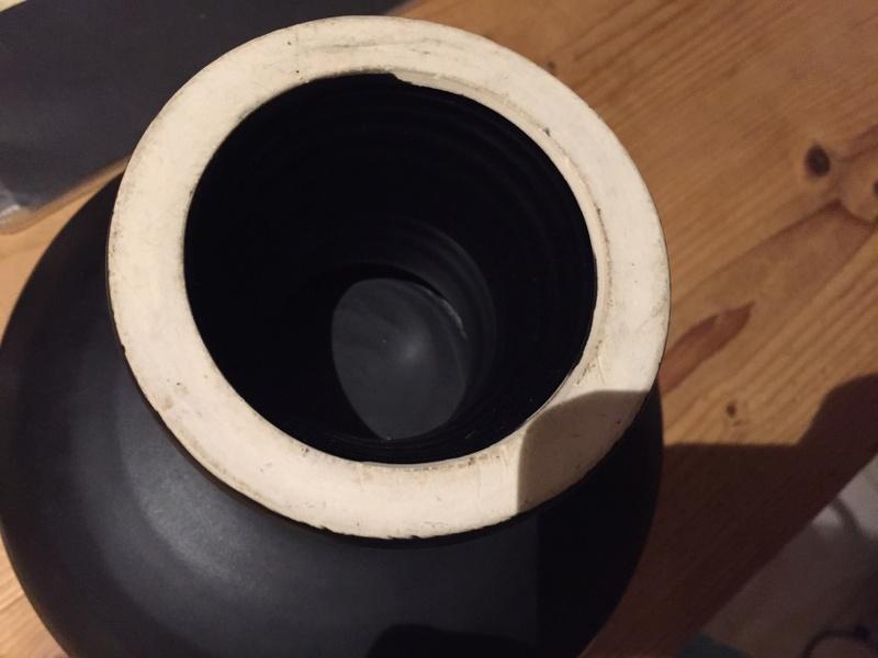Black pedestal bowl Img_2637