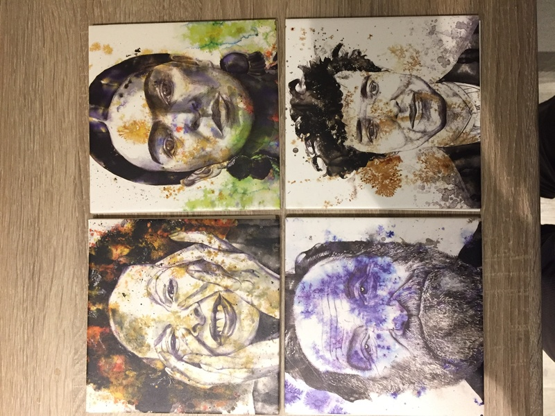 Printed tiles of famous people  Img_2644