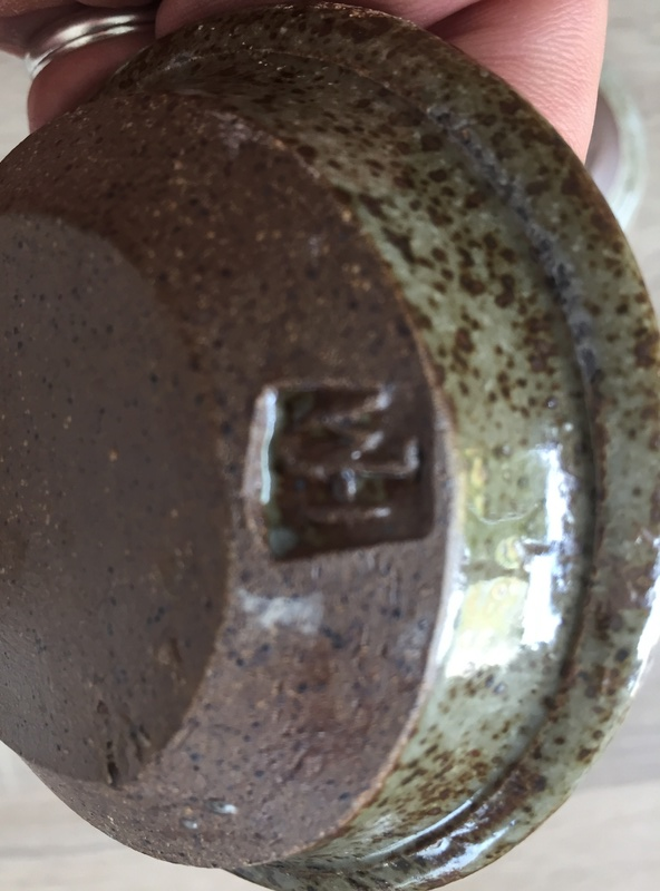 William (Bill) Hedge, Hedgecraft Pottery - WJH mark  Img_2726