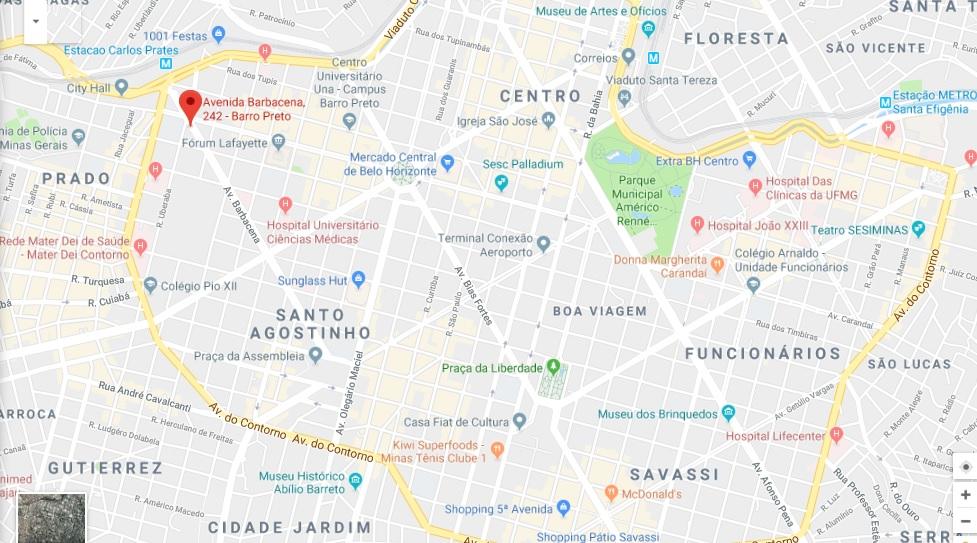 COMO CHEGAR NO SINDIPETRO-MG NO EVENTO POLÍTICA MINERAL -01/09/2018 Mapa_d11