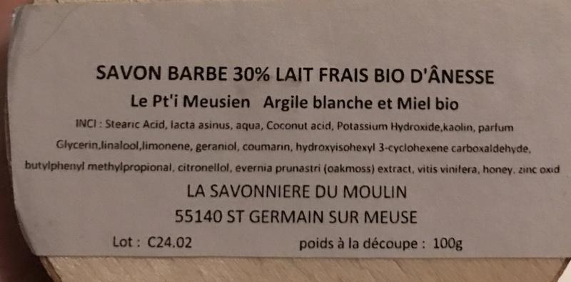 Le Pt'i Meusien - savon à barbe au lait d'ânesse - Page 2 Fae99910
