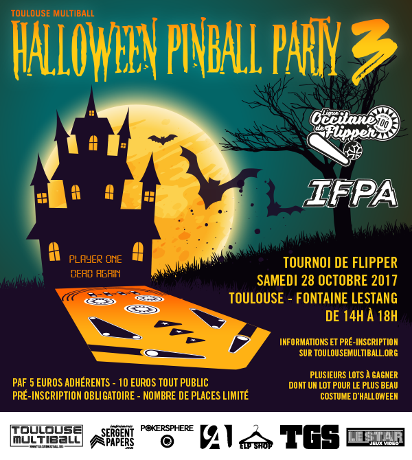 Tournoi de Flipper Halloween Pinball Party 3 le 28 octobre à Toulouse Hallow10