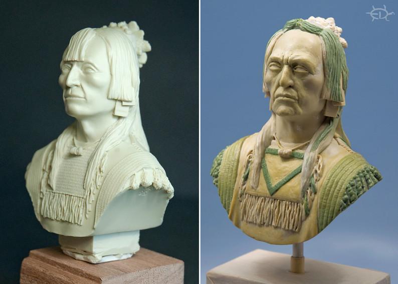 Buste de Geronimo 1/7 transformé (Terminé) Edan_019