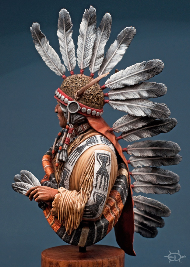 Buste Jicarilla Apache, un classique revisité (Fini !!!) - Page 2 Edan_319