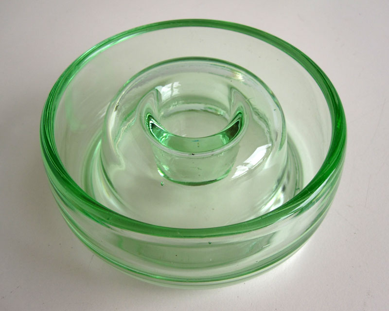 Green glass candle holders Greeng11