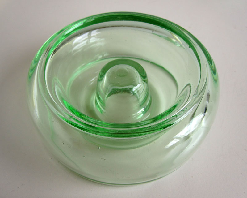 Green glass candle holders Greeng12