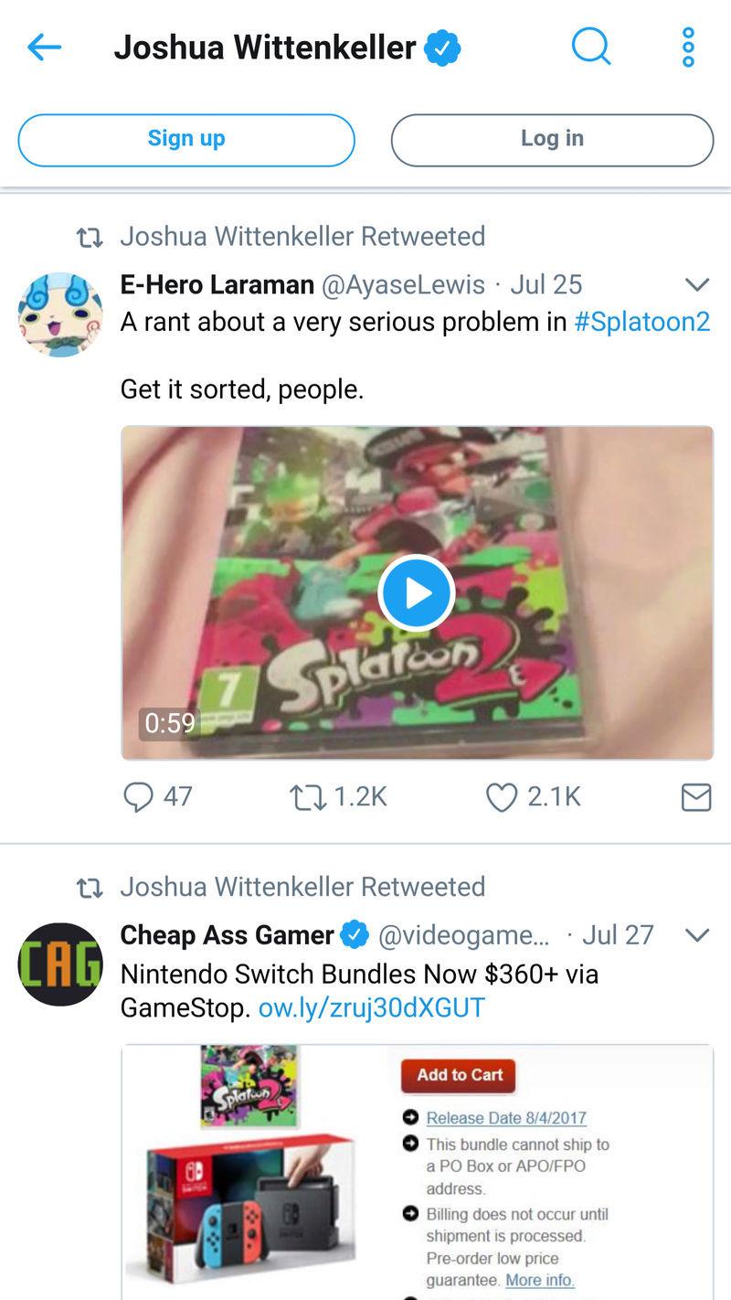 JWittz Retweeted Dark Jester's Splatoon 2 Booyah Rant Video Screen12