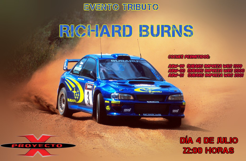 Rally Tributo Richard Burns Cartel12
