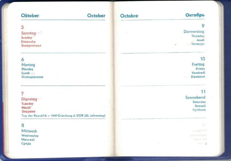 agenda IFA 1969 Kalend11