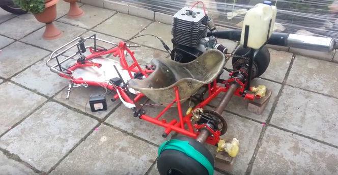 """Un moteur MZ 251 ETZ sur un """"Go Cart"""" Mz_goc10"""