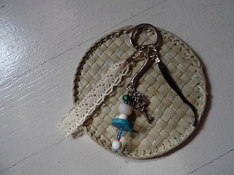 Porte-clef turquoise fait main Dsc00710